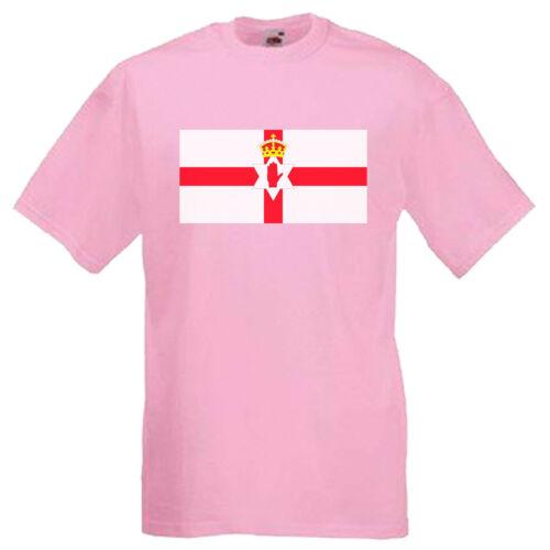 Northern Ireland Ulster Flag Children/'s Kids Childs Gift T Shirt