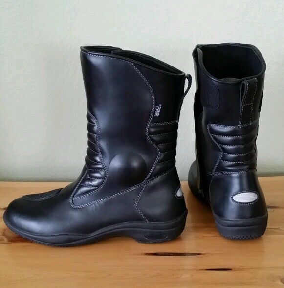 Tour Master Womens Size 10 Solution Solution Solution Black Road Boot Waterproof  Worn Once efa5f2