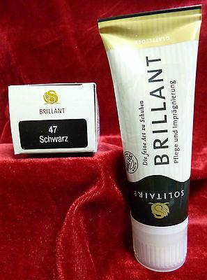 (6,53EUR/100ml) Solitaire Brillant Creme Schuhcreme intensive Pflege Glattleder