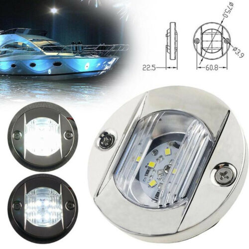 Stainless Steel Boat Marine Combination Anchor Stern Light Round LED Lamp DC 12V