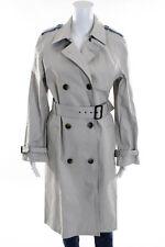 Designer Beige Belted Trench Coat Size 4