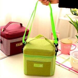 Portable Insulated Thermal Cooler Lunch Box Food Storage Bag Work Picnic Case