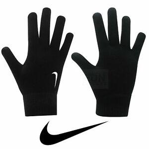siga adelante Reprimir legal  Nike de punto Guantes para correr entrenamiento fútbol Clima Frío ...