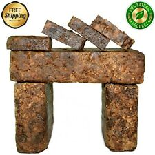 Raw African Black Soap Organic 4 Oz Bar 100 Pure Unrefined Natural From Ghana