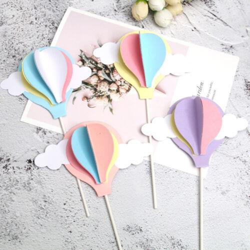 Hot Air Balloon Cupcake Cake Topper  Birthday Wedding Party Baby Shower Decor y