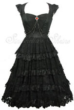 Spin Doctor Victorian OPHELIA Steampunk Gothic Lace VAMPIRE Dress XS UK 6-8