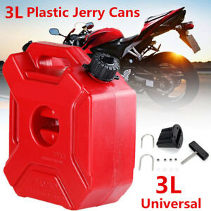 Plastic Gas Cans >> Details About Plastic 3l Jerry Can Gas Diesel Fuel Tank For Car Motorcycle W Lock Mounting Kit