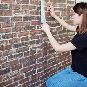 Wall Sticker Foam Brick 3d Waterproof Living Room Background Adhesive Wallpaper