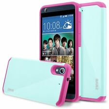 RANZ® HTC Desire 626s Pink/ Mint Hard Impact Dual Layer Shockproof Bumper Case