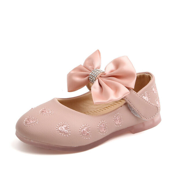 Baby Girls Party Dress Sandals Kid Flat Shoes Princess Bowknot Trainner Shoes