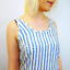 SALE WOMENS /'RACER/' SUPREMEBEING RETRO 70S BUTTON BACK TOP WHITE//BLUE K32 NEW