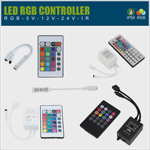 rgb dimmer controller f led streifen kontroller steuerung smd 5050 3528 musik ebay. Black Bedroom Furniture Sets. Home Design Ideas