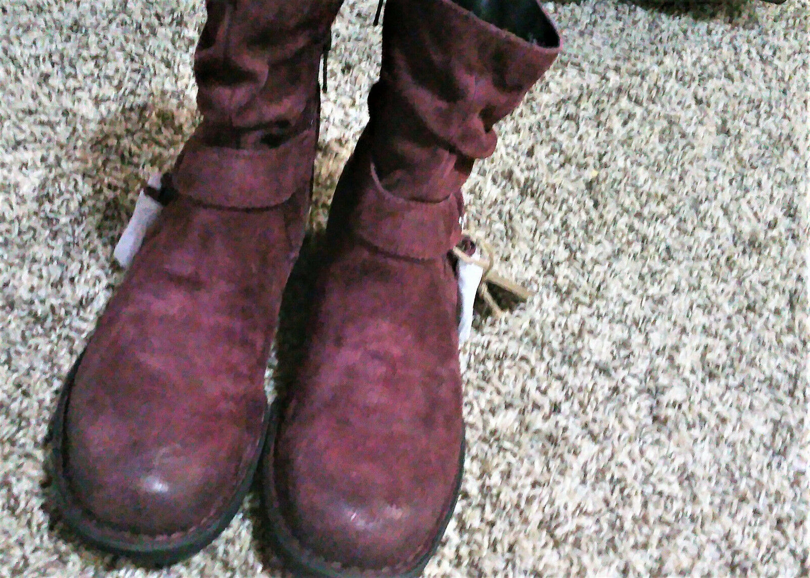 Fire Sale- NWOB- BORN 'Cory' Burgundy Suede Leather Ankle Boot Women's 8