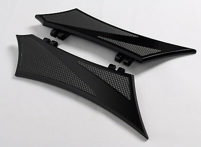 Front Floorboards for Harley Baggers Chrome-E-O ALL Black w/ Rubber Inserts