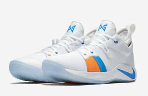 28e00fcabcbc Nike PG 2 Mens Size 18 Paul George Basketball Shoes White The Bait ...