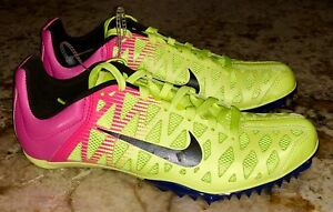 outlet store 8bfe0 f61f7 Image is loading NIKE-Zoom-Maxcat-4-Sprint-Volt-Pink-Track-