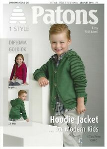 21e48da2fc3d VAT Free Knitting PATTERN ONLY Patons Hoodie Jacket for Modern Kids ...