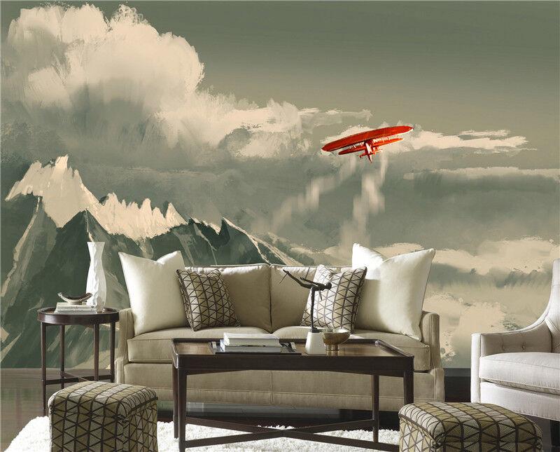 3D Berg Segelflugzeug 9572 Tapete Wandgemälde Tapeten Bild Familie DE Lemon