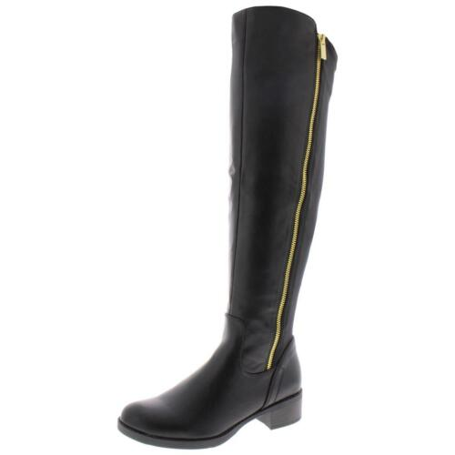 Details about  /Steve Madden Womens Zally Faux Leather Knee-High Riding Boots Shoes BHFO 7885