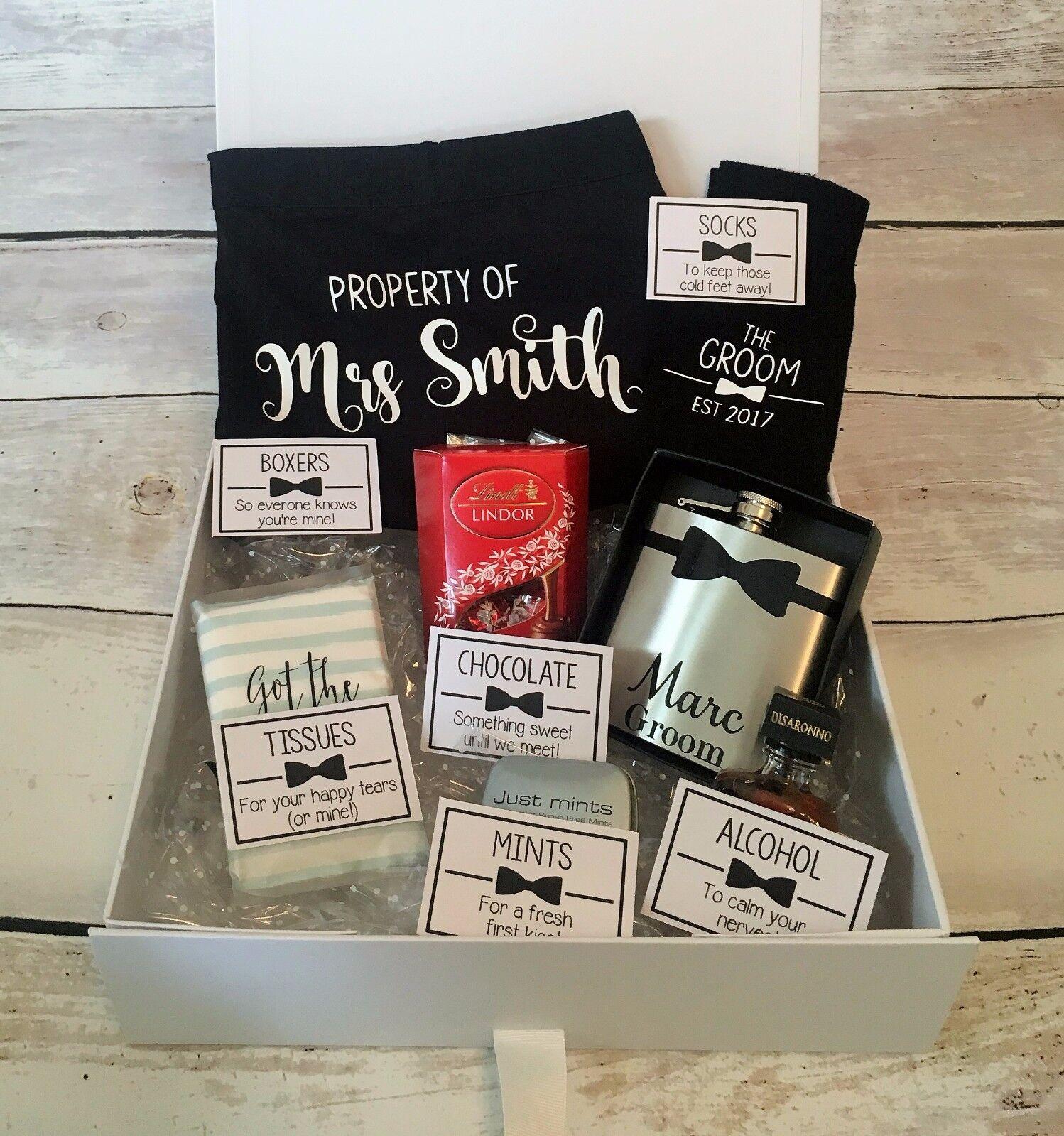 Personalised Groom Box Hamper Gift Set For Groom Survival Kit Keepsake Bride