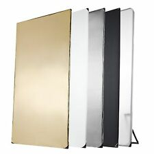 Walimex Pro 5-in-1 reflector panel (1 x 2 m) black / silver / white / gold / ...