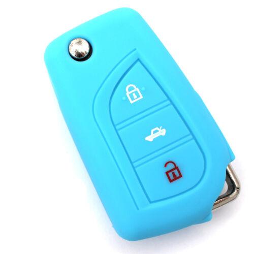 Funda clave ta azul claro de silicona protección llaves del coche cover control remoto