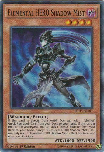 Elemental Hero Shadow Mist SDHS-EN001 Super Rare Mint HERO STRIKE Unlimited