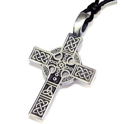 N61 Halskette Anhänger KELTEN KREUZ Herren Necklace Pendant Biker Celtic Cross