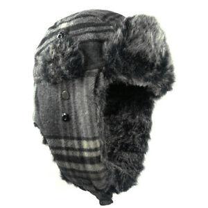 Men Women Winter Trapper Aviator Trooper Earflap Warm Ski Hat Luxury Leather Cap