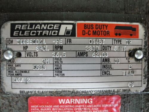 MCI Bus Electric A//C Condenser Motor Reliance 6 Month Warranty D Model Coach