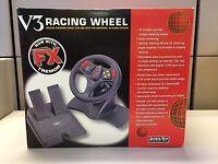 NEW InterAct SV-380 V3 FX Tremor Racing Wheel N64 nintendo 64 analog steering