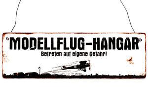 Nostalgieschild Modellflieger