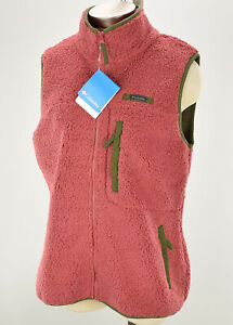 COLUMBIA-Womens-Rose-Nori-MOUNTAIN-SIDE-Heavyweight-Fleece-Vest-LARGE-NWT