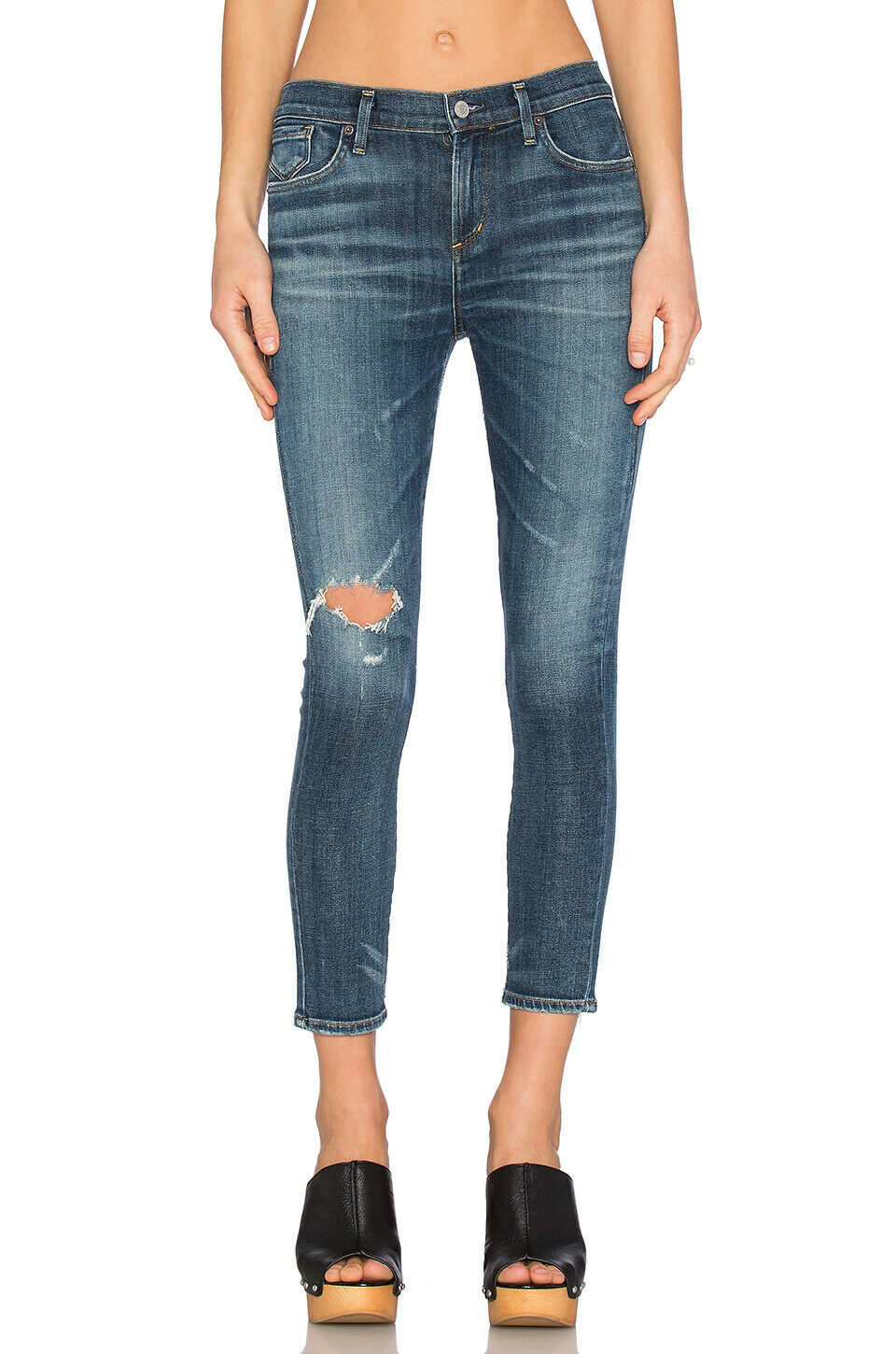 AgoldE COLETTE CROPPED SKINNY JEANS IN STARWOOD WASH 26 NWT