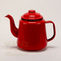 Vintage Style Red Enamel Teapot, Four Cup Size - Free Courier Delivery