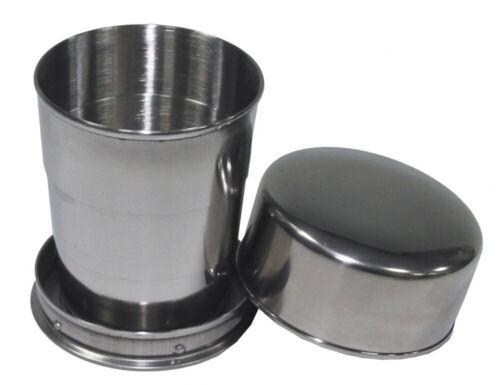 MFH Potable Tasse en Acier Inoxydable Camping Gobelet pliable alcool gobelet Outdoor Randonnée
