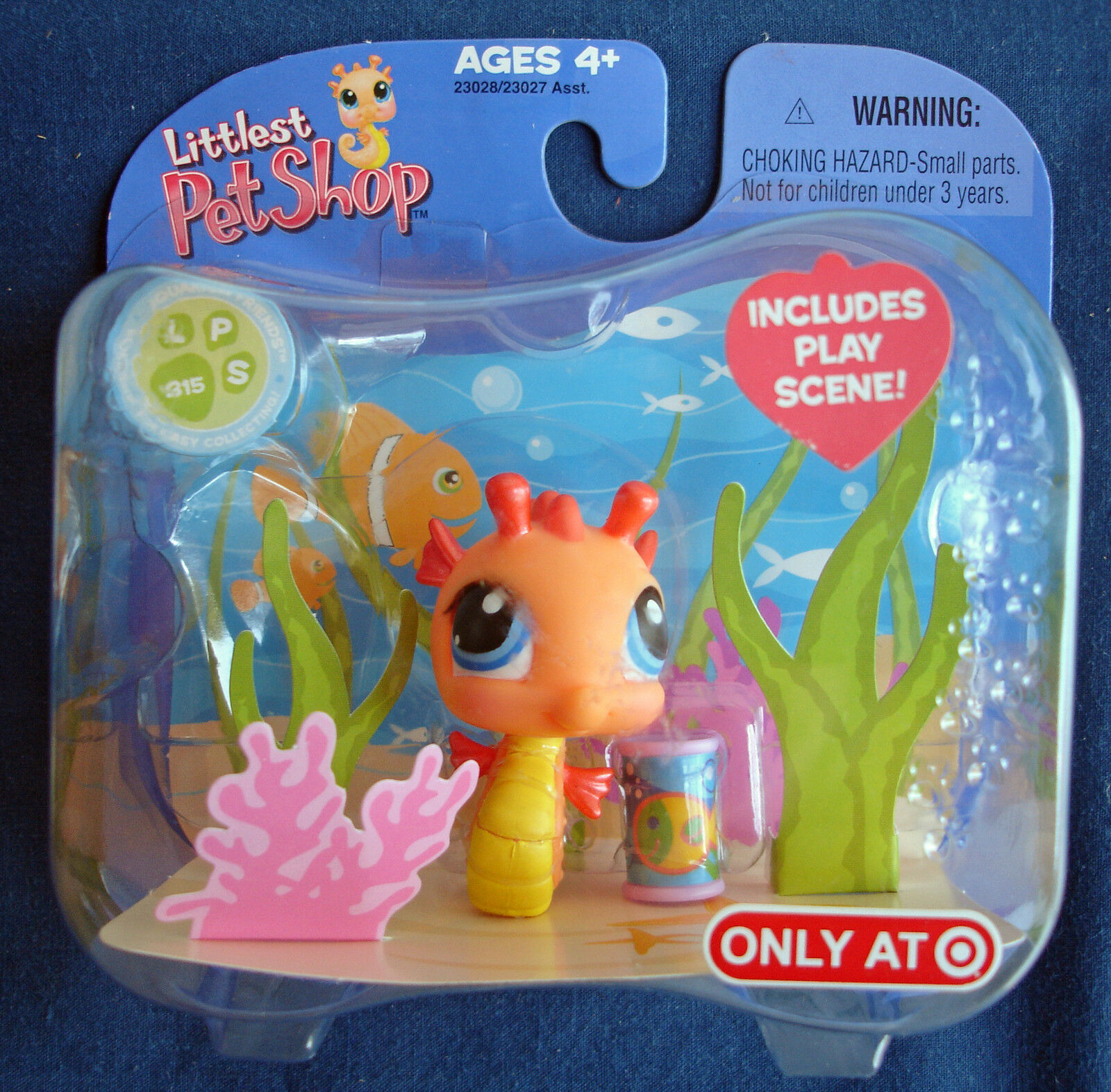 Littlest Pet Shop Target exclusive retired orange & yellow seahorse
