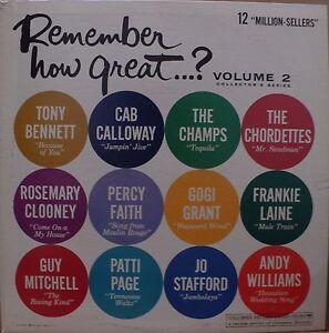 "Remember How Great . . . ?  Vol 2 – (Various Artists) – 12"" Vinyl (1962)"
