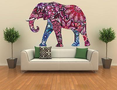 Elephant Safari Wall Sticker Vinyl Art animal Removable wild Vinyl Decal Mural