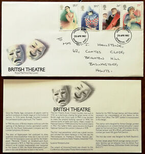 British-Theatre-Royal-Mail-First-Day-Cover-Insert-28-April-1982