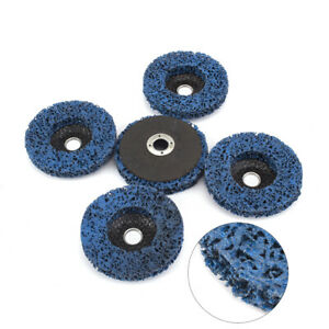Paint and Flaking Materials 5Pcs 4 inch 100mm Poly Strip Disc Abrasive Angle Grinder Wheel Disc for Removal of Rust