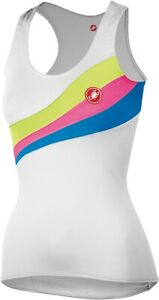 Castelli-Gisele-Top-Women-039-s-Cycling-Jersey-White-FREE-Shipping