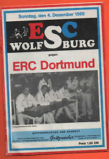 Orig.PRG    2.Liga Nord  88/89   ESC WOLFSBURG - ERC DORTMUND  !!  SEHR SELTEN