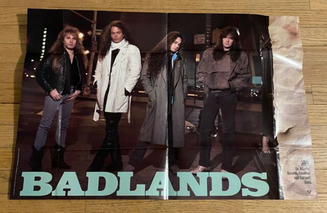 BADLANDS - promotional poster - OFFICIAL   glam street metal  HUGE 30x20 inches