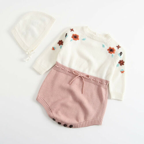 2018 nouveau-né bébé fille à pois en tricot d/'hiver Ange Body Crochet Vêtements Outfit
