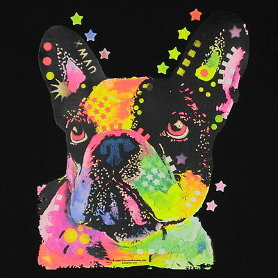 Kids French Bulldog T-Shirt Unisex Children to Adult Cute Youth Boys Neon Puppy