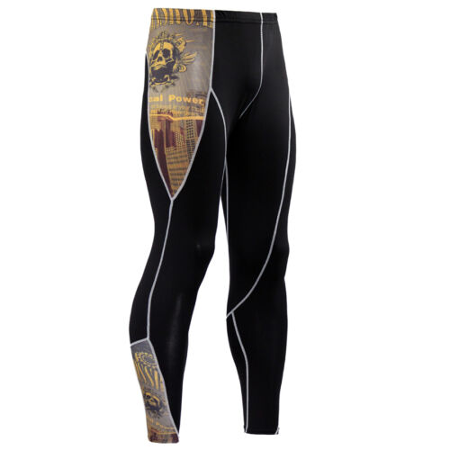 Men Sports Athletic Outfits Gym Compression Wear Set Fitness Long Pants T-shirts