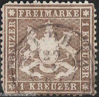 Württemberg  MiNr. 16 y a ° Marke wurde vom BPP Heinrich geprüft und signiert