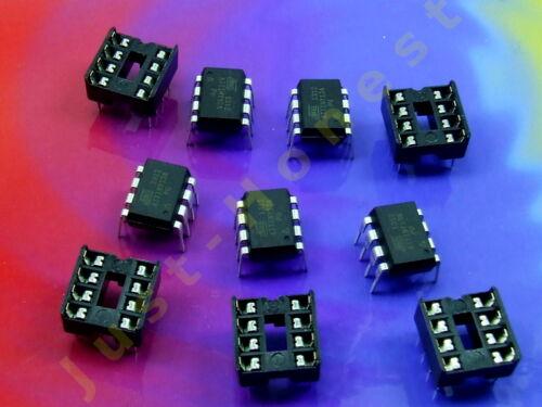 Stk.5 x ATTINY 13 A mit//ohne 5 x DIP8 Sockel//Socket Mikrocontroller MCU AVR