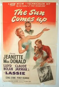 LASSIE-JEANETTE-Mac-DONALD-THE-SUN-COMES-UP-1-Sheet-1948-Folded
